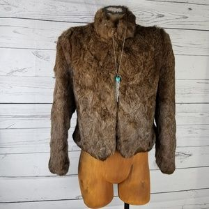 Vintage 100% Rabbit Fur Coat Size Small